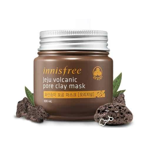 Leire maske fra det koreanske hudpleiemerket Innisfree som er fantastisk for uren hud